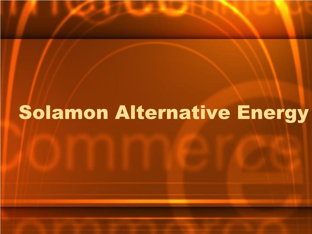 solamon alternative energy l.