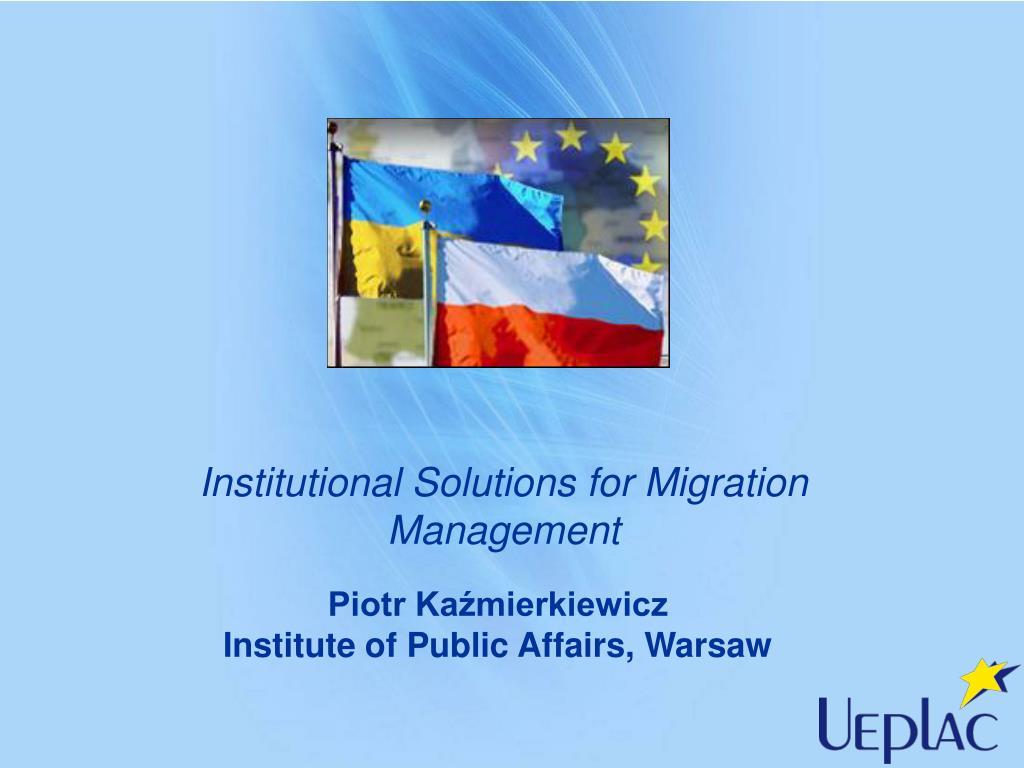 institutional solutions for migration management l.