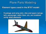 plane parts modeling