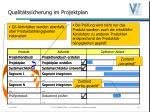 qualit tssicherung im projektplan