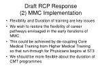 draft rcp response 2 mmc implementation