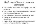 mmc inquiry terms of reference abridged