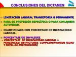 conclusiones del dictamen