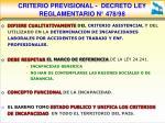 criterio previsional decreto ley reglamentario n 478 98