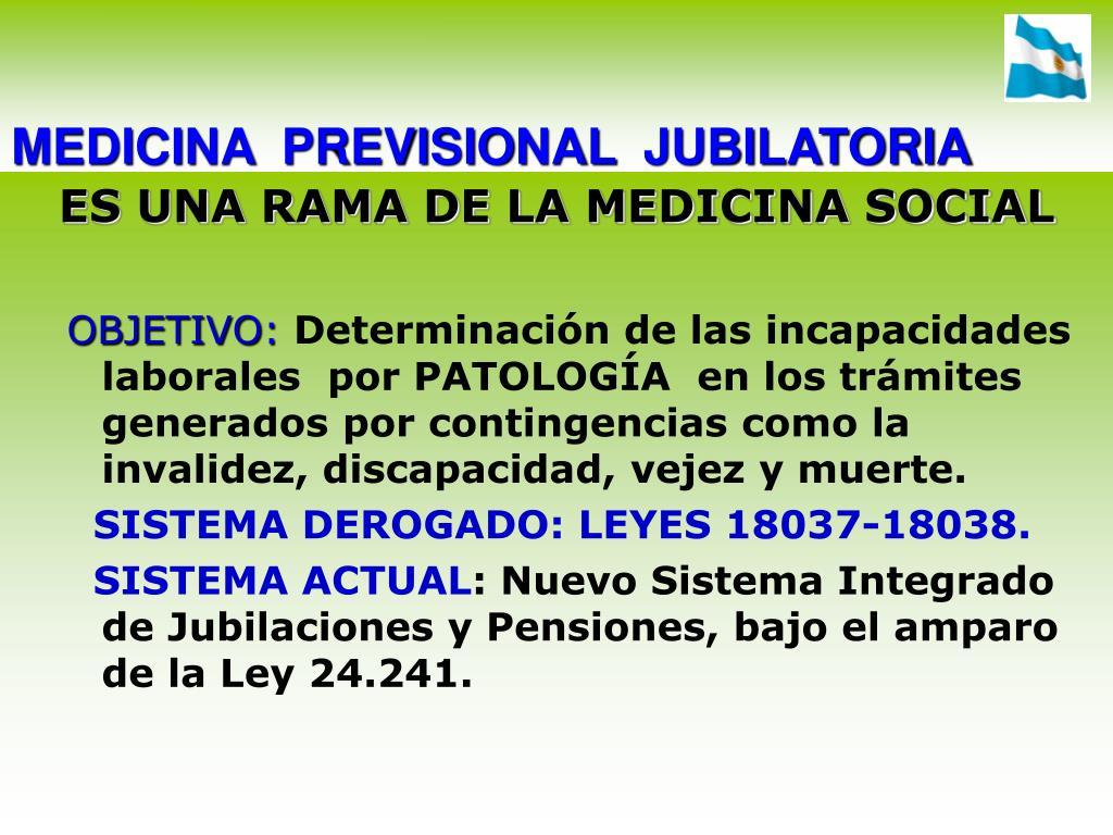 medicina previsional jubilatoria l.