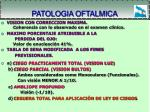 patologia oftalmica