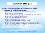 common ims 2