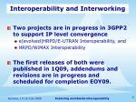 interoperability and interworking