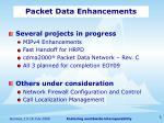 packet data enhancements