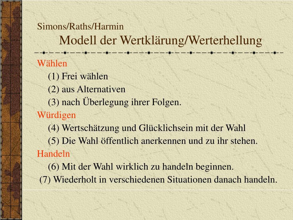simons raths harmin modell der wertkl rung werterhellung l.