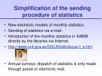 simplification of the sending procedure of statistics