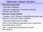 valencian library system