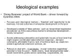 ideological examples