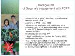 background of guyana s engagement with fcpf