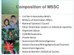 composition of mssc