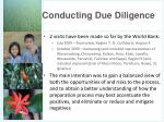 conducting due diligence