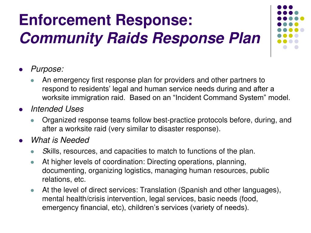 Enforcement Response: