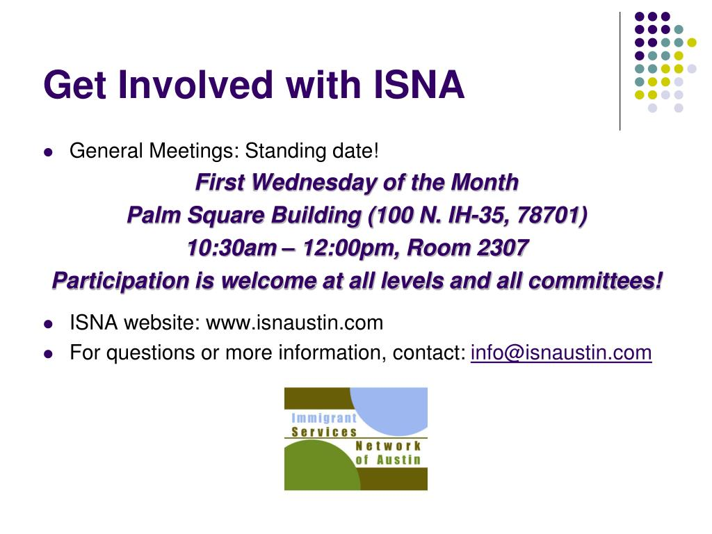 Get Involved with ISNA