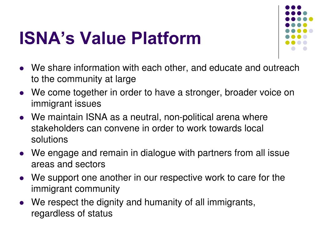 ISNA's Value Platform