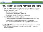 pm 2 5 permit modeling activities and plans