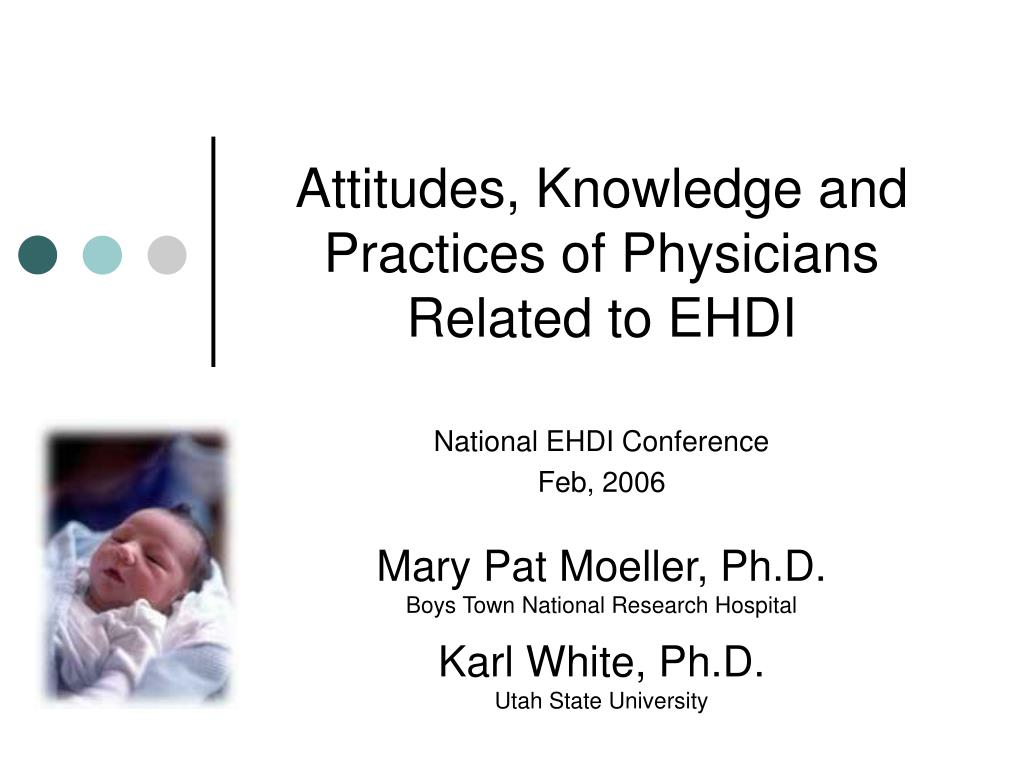 attitudes knowledge and practices of physicians related to ehdi l.