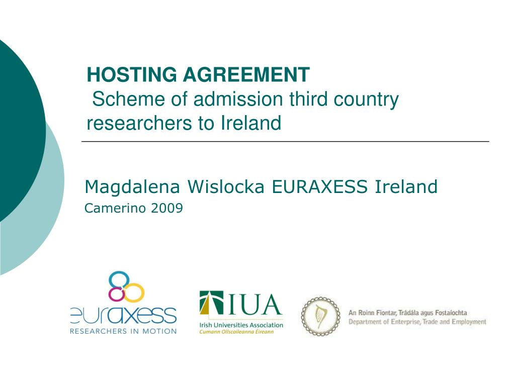 hosting agreement scheme of admission third country researchers to ireland l.