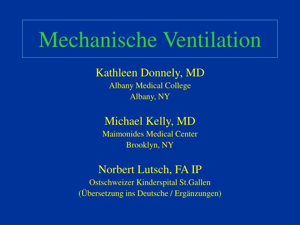 mechanische ventilation l.