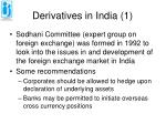 derivatives in india 1