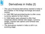 derivatives in india 2