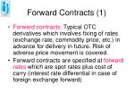 forward contracts 1