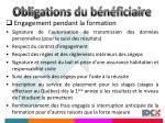 obligations du b n ficiaire15