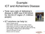 example ict and alzheimers disease