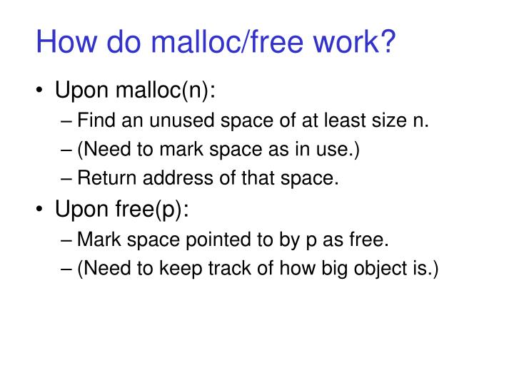 How do malloc/free work?