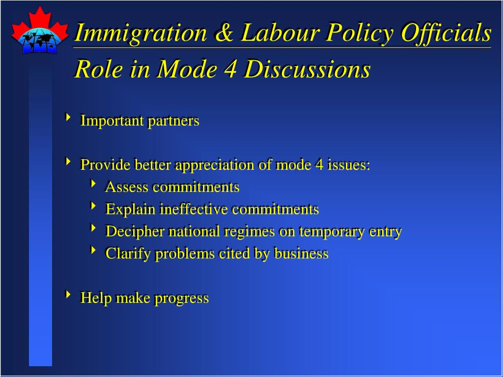 Immigration & Labour Policy Officials