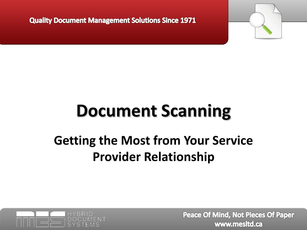 document scanning l.