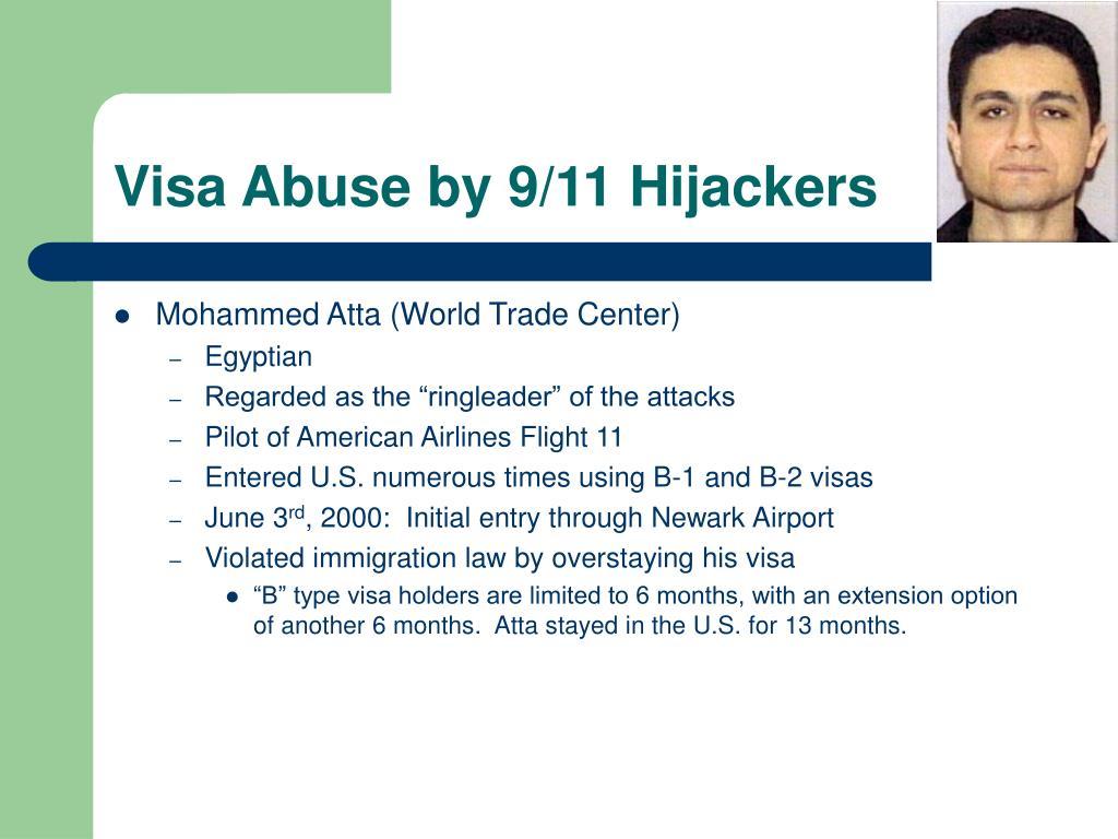 Visa Abuse by 9/11 Hijackers