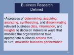 business research defined
