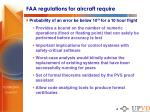 faa regulations for aircraft require