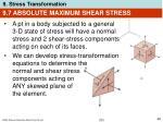 9 7 absolute maximum shear stress