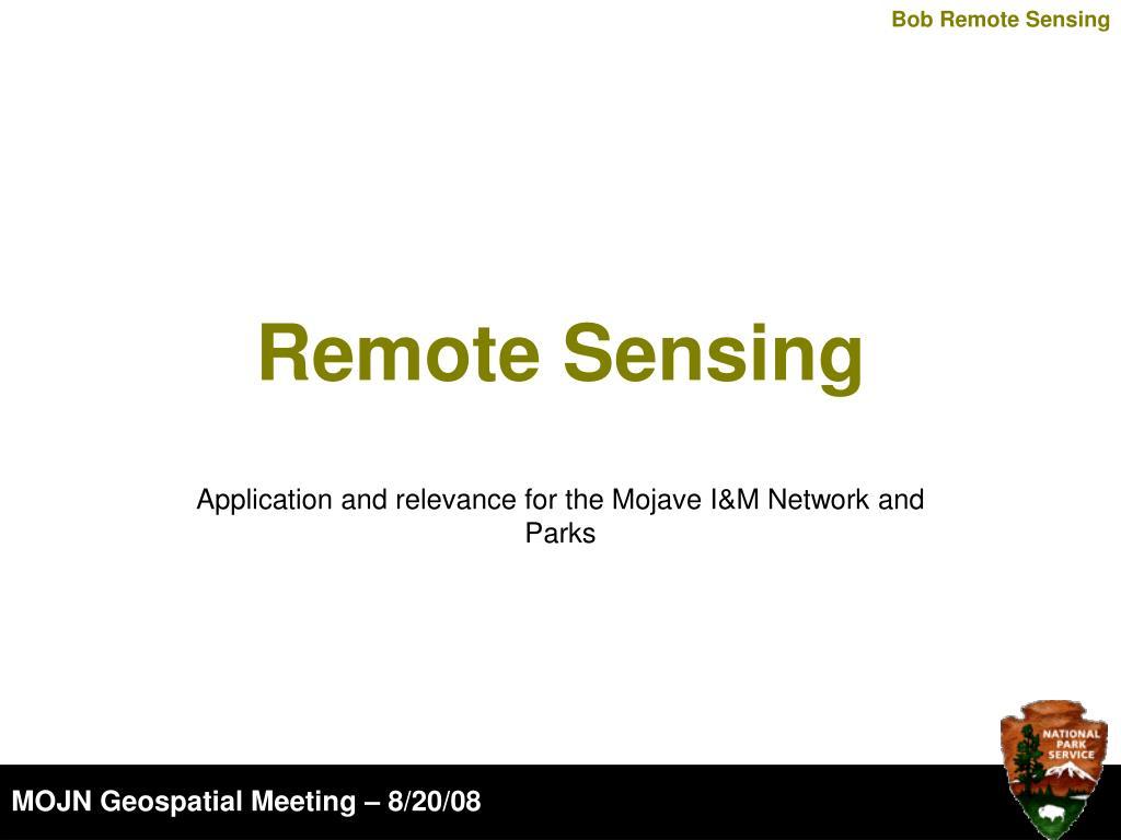 remote sensing l.