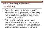 facts on family sponsored immigration