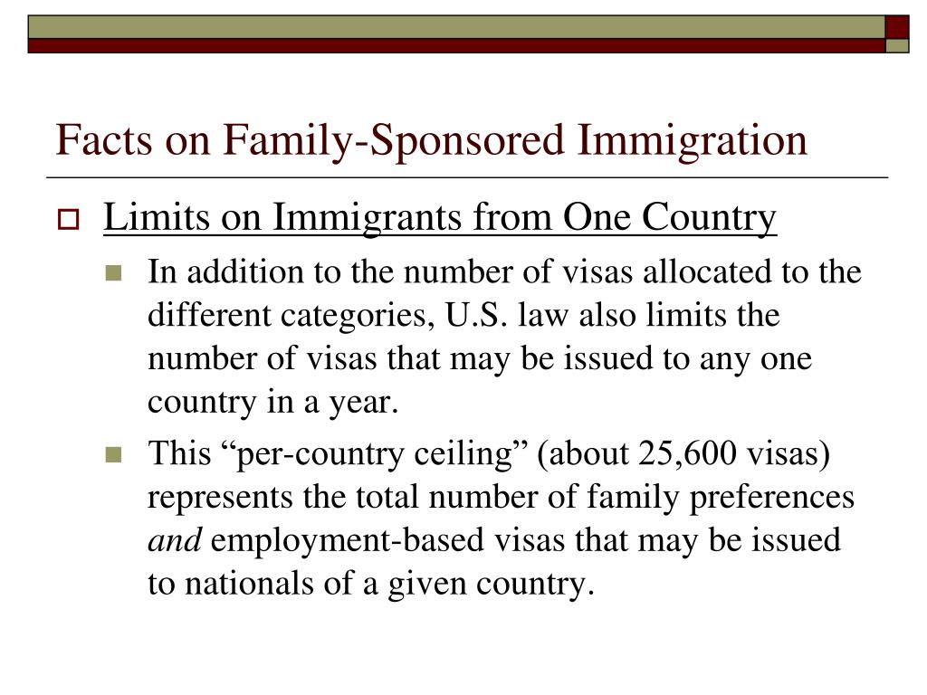 Facts on Family-Sponsored Immigration