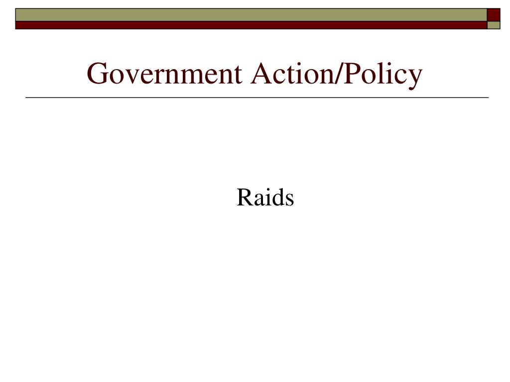 Government Action/Policy