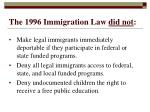 the 1996 immigration law did not