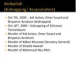 hezbollah kidnapping assassination
