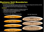 business unit boundaries