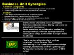 business unit synergies