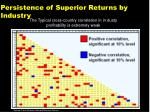 persistence of superior returns by industry