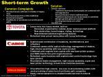 short term growth