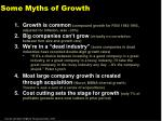 some myths of growth